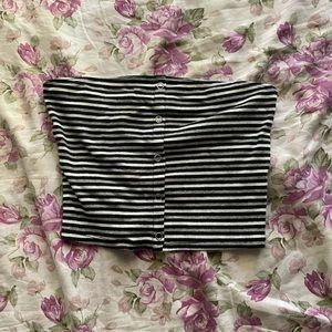 Small stripe crop top